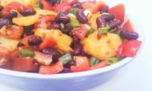 Warmer Kartoffelsalat mit Bohnen2