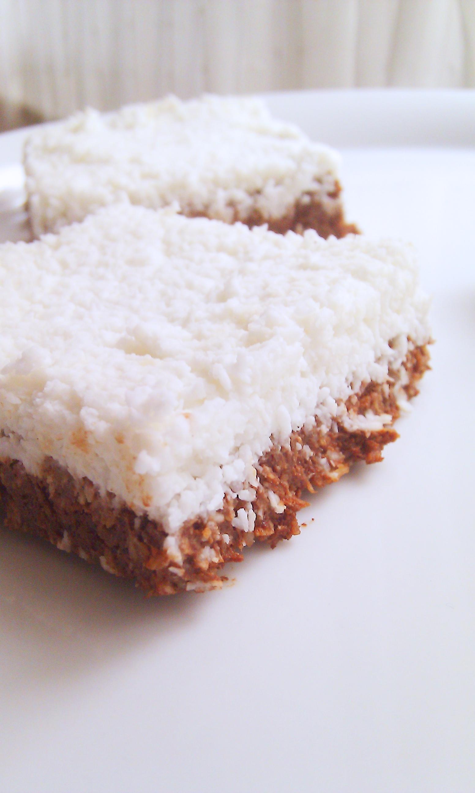 No-bake-Brownies mit Kokosmilch