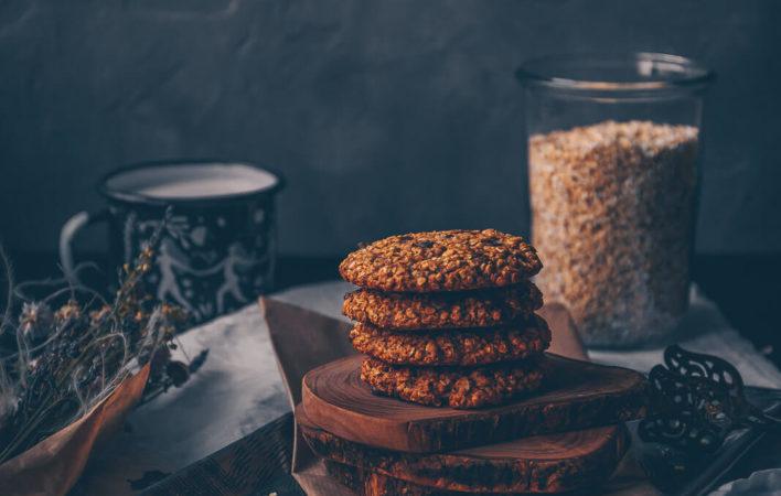 Chocolate Chip Cookies mit Hafer, Haferkekse mit Schokodrops, Schokokekse Hafer, Haferkekse vegan Rezept, Rezept Kekse vegan, Chocolate Cookies vegan Rezept