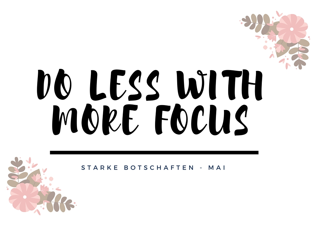 Do less with more focus1