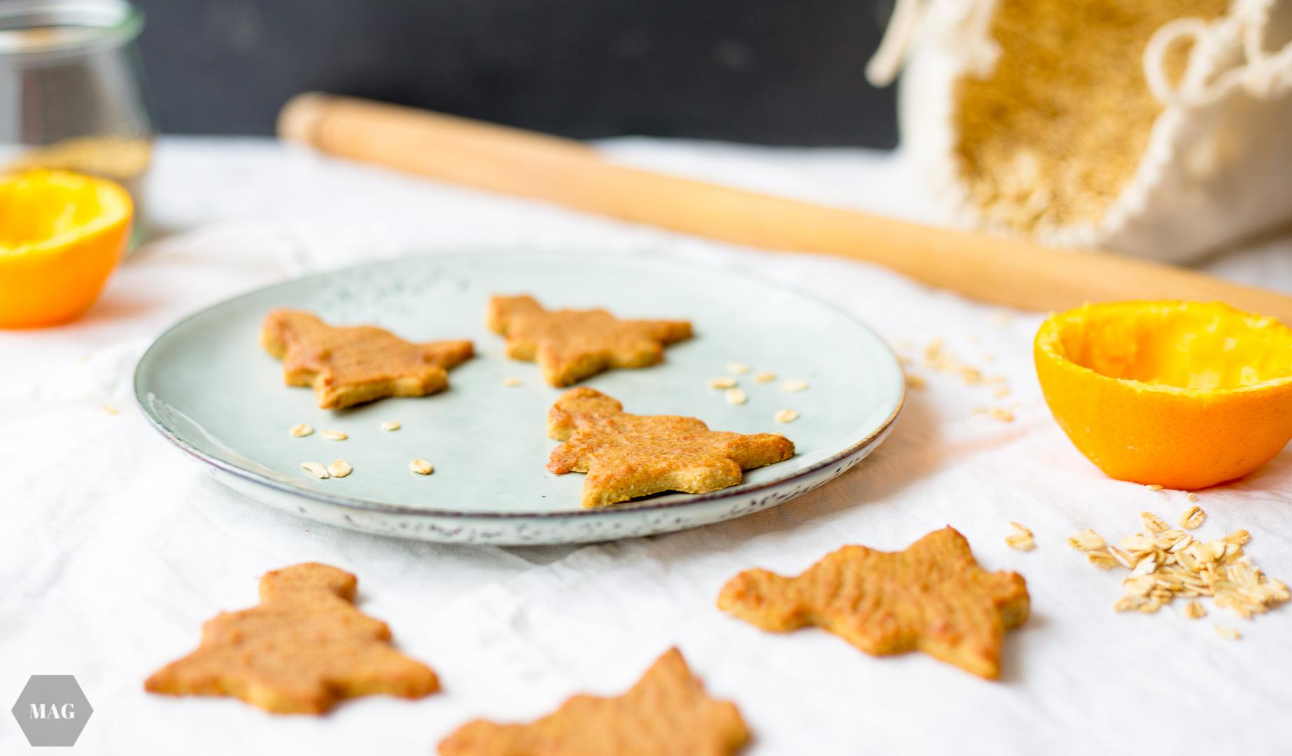 hafer-tannenbäume, haferkekse, weihnachtskekse, vegane kekse, grundrezept kekse, ausstechkekse