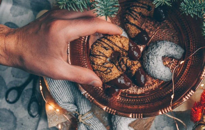 Haselnuss-Vanille-Kipferl, Haselnuss Kekse vegan, Haselnuss Vanille Kipferl vegan, vegane Weihnachtskekse, vegane Kekse Weihnachten, backen Weihnachten vegan, Kekse einfach vegan