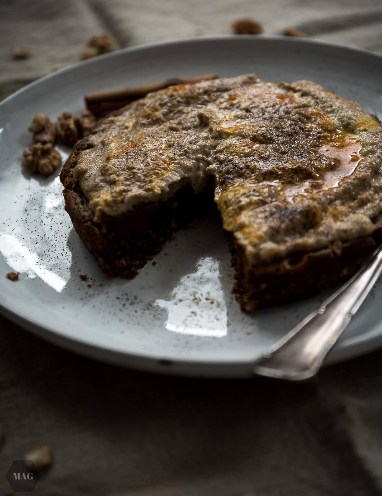 Kleiner Kurbis Kuchen Mit Cashew Creme Mehr Als Grunzeug