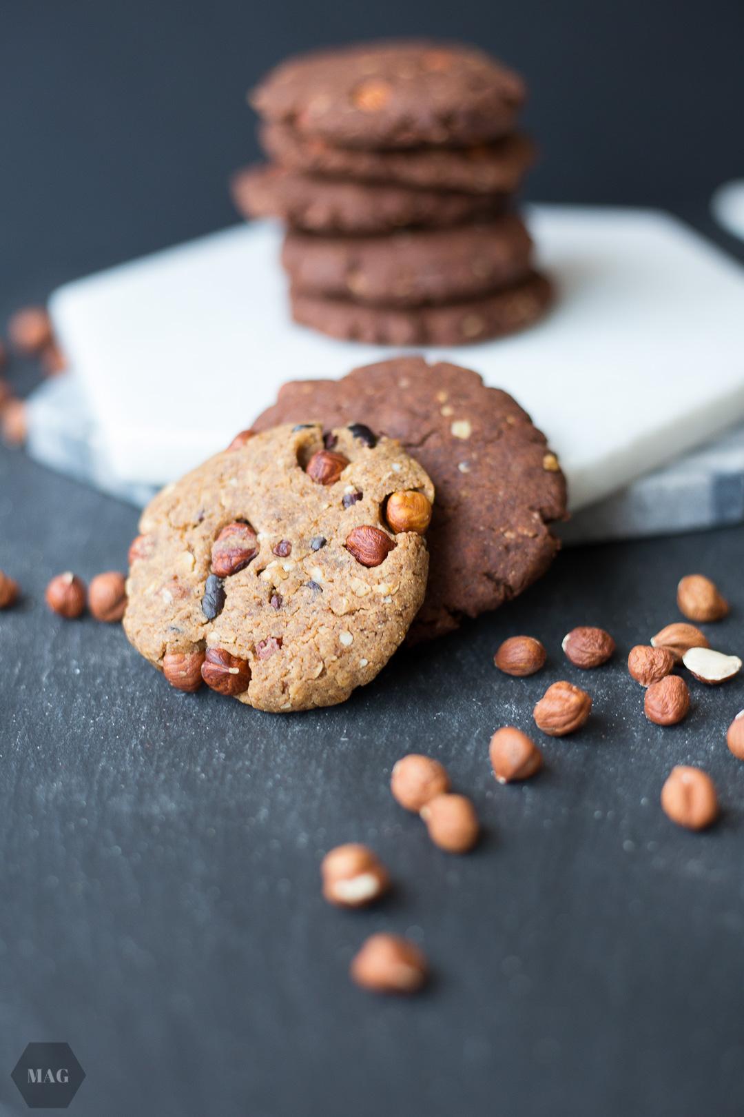 Zweierlei Schoko-Cookies [hell + dunkel] | Mehr als Grünzeug