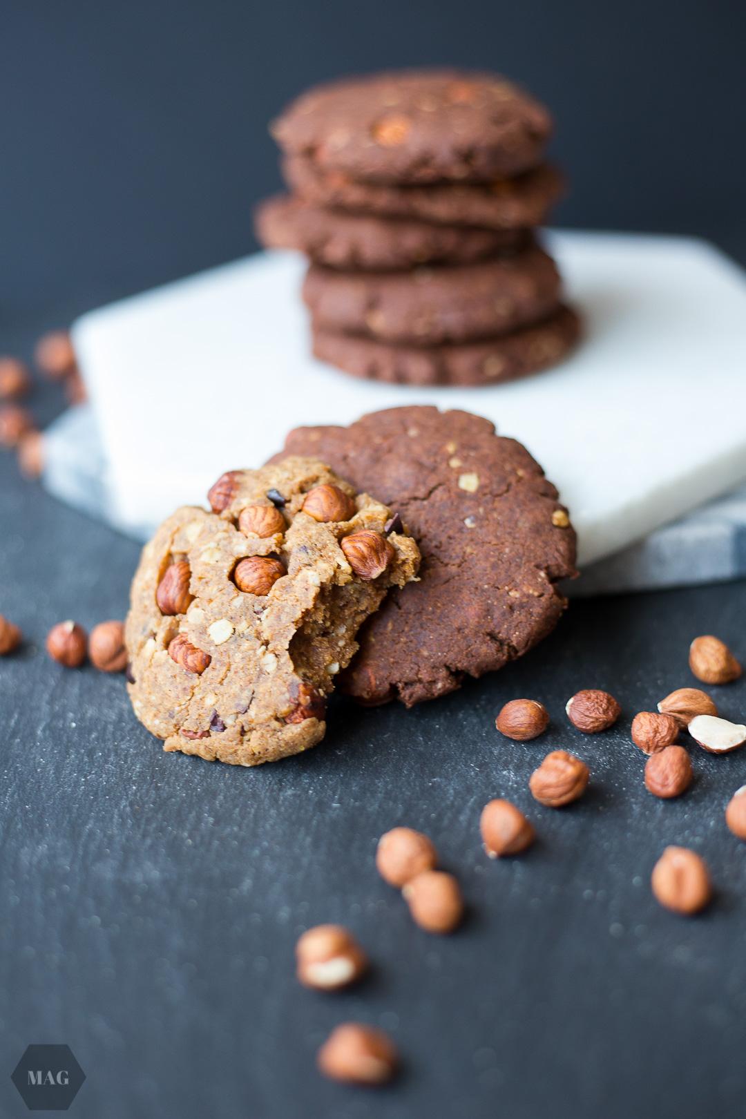 Schoko-Cookies, Schokoladenkekse, Schokoladen-Cookies, Vegane Schoko-Kekse, Vegane Cookies, Vegane Kekse, Vegane Schokoladen-Cookies, zuckerfrei, glutenfreie Kekse