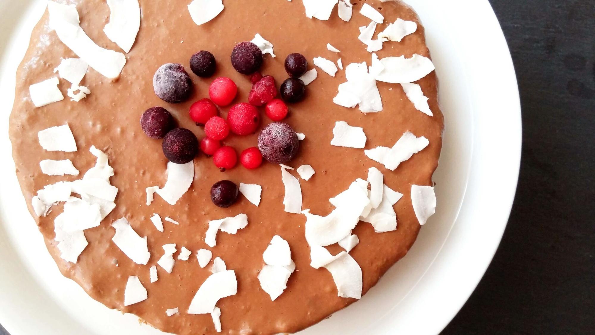 No bake Schokoladentorte mit Keksboden
