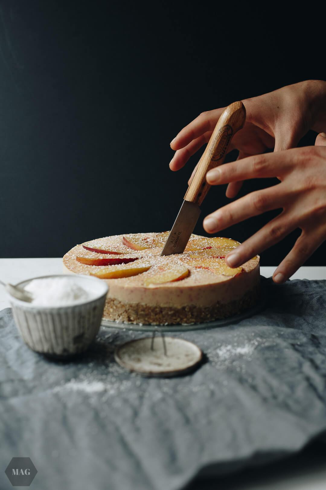 Nektarinen-Kuchen, Nektarinenkuchen vegan, Nektarinen Kuchen ohne Ei, NektarinenKuchen backen, Nektarinenkuchen ohne Zucker, Nektarinen kuchen rezept, Nektarinen Kuchen mit Sojajoghurt, Nektarinenkuchen no bake