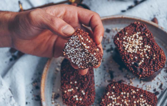 quinoa-pop-bars, schoko quinoa bars, schoko quinoa schnitten, schoko quinoa, quinoa pops, quinoa pops Rezepte, quinoa pop rezepte