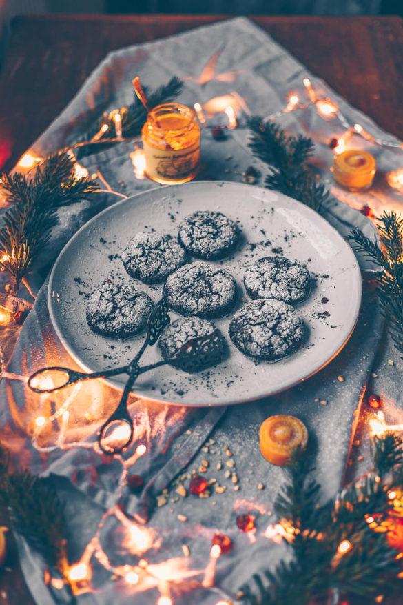 schoko-wölkchen, Schoko Kekse, vegan schoko Kekse, vegane Schokoladenkekse, vegane Weihnachtskekse, Kekse Weihnachten vegan, Kekse Weihnachten ohne Ei